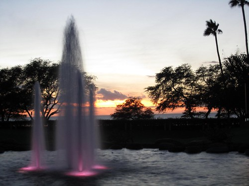 Sunset & Fountains
