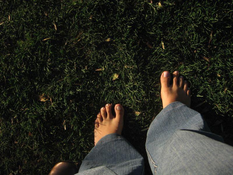 Descalza en Unam