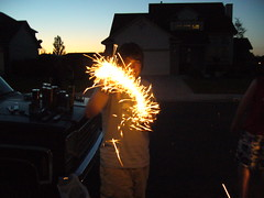 Jason's Sparkler Dancing