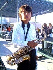 Alex sporting his cool jazz look