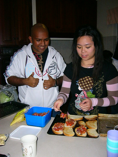 Jon and Maria Making Bruschetta