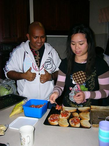 Jon and Maria Making Bruschetta