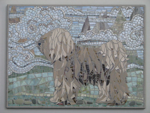 Dogs In Modern Mosaic Art Beagle Boston Terrior
