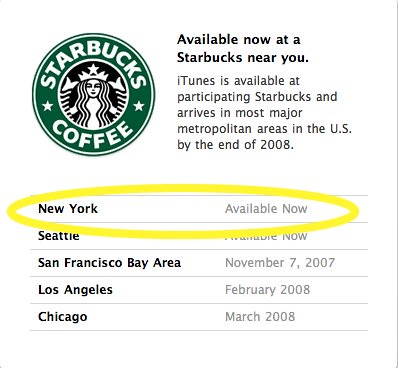 Apple - iTunes - Starbucks