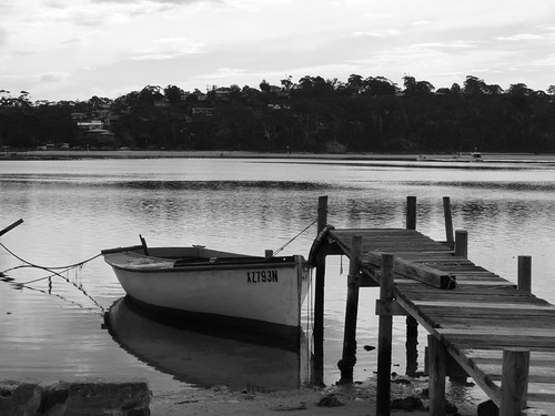 Merimbula. Boat and Wharf