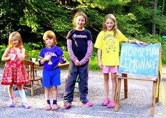 (c) Hilltown Families - Kids selling Lemonade in Goshen