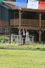 Josh and Dani, walking in