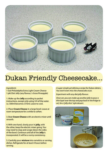 dukan cheesecake recipe by Lozza Bee