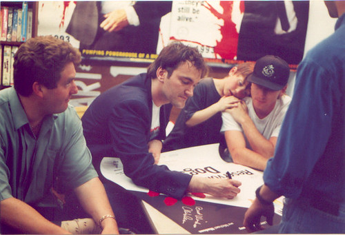 Chris Penn, Tarantino y Tim Roth