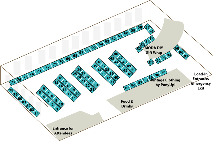 Holiday ICE 2010 Booth Layout