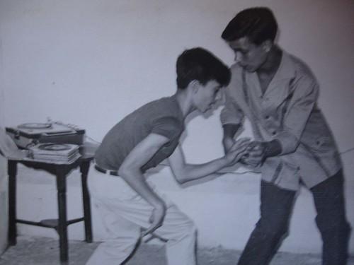 Papá bailando el twist en un pikú en Heliopolis
