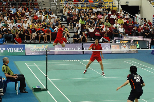 Badminton Doubles Shot: Jump Smash