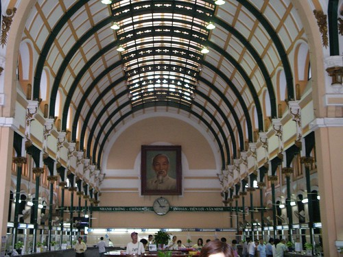 Inside the main HCMC post office