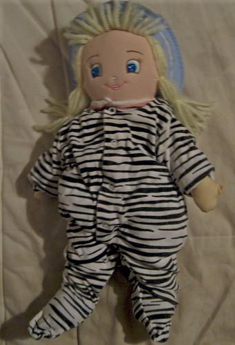 Dolly in zebra suit