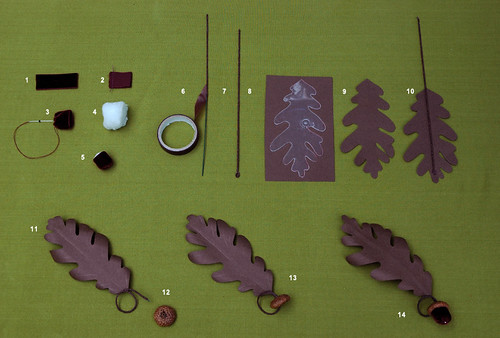How to build a velvet acorn with oak leaf in 14 easy steps