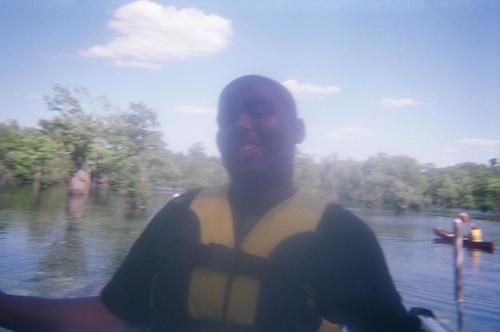 Canoeing Merchant's Millpond - Khalif, Terrance and Dada's Boat - Khalif on Dock, Vicky Goes Back