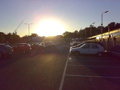Sunset over Wycombe Train Station