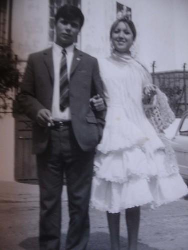mamá y papá en la Feria del Prado