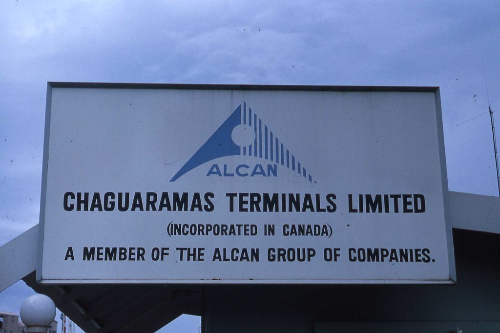 Alcan Sign at Chaguaramous, Trinidad