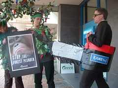 ANZ rainforest protest