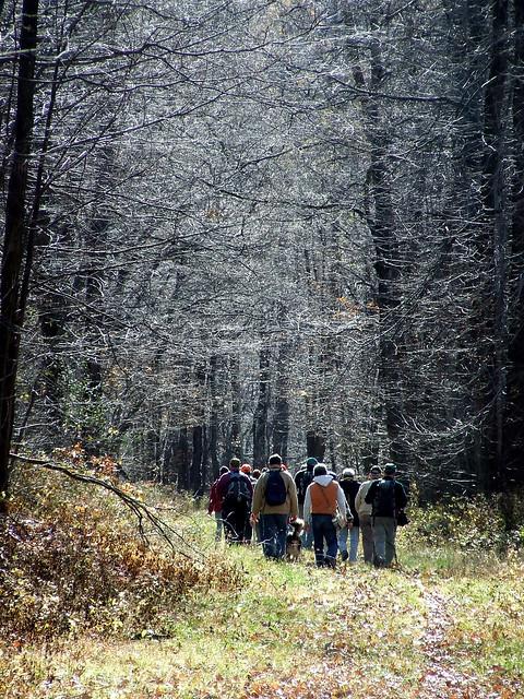 Bell Gap Rail Trail hikers