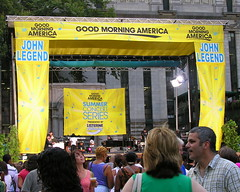 The temporary stage in Bryant Park