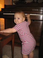 Dancing while playing piano....again!