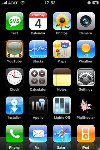 My current iPhone 'desktop'