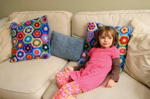 My favorite crochet project so far. Pillows!