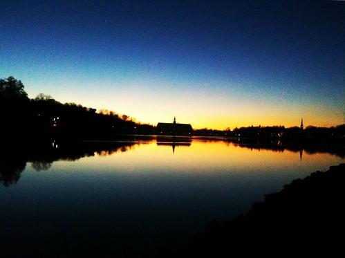 Stockholm, Djurgården, in the dark
