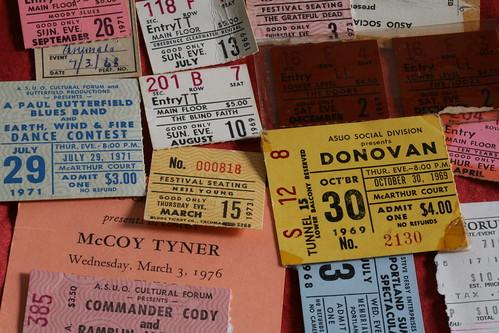 Sixties, seventies concerts