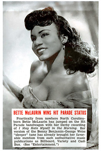 Songstress Bette McLaurin Gets Hit Parade Status - Jet Magazine, June 19, 1952 by vieilles_annonces.