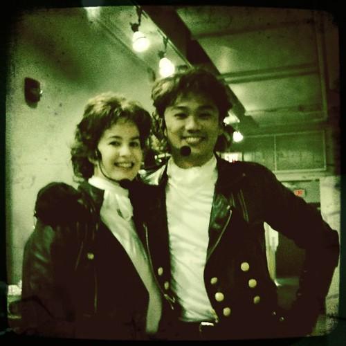 Linz & Derek backstage