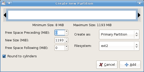 Setting up XubuntUSB - setting the second partition