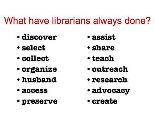 MLGSCA09 Cerritos: What do libns do? (answers?)