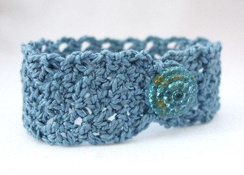 Crochet cotton bracelet