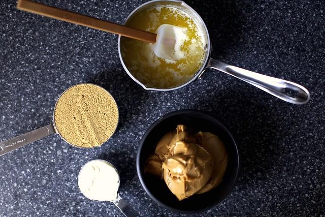 butter, peanut butter, cream cheese