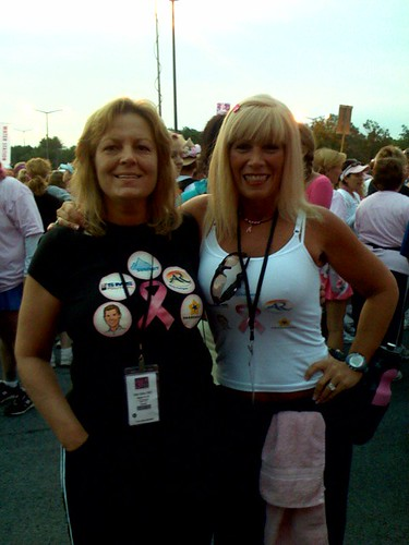 Connie Berg and Missy Ward walk 60 miles to fight breast cancer.