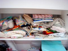 Fabric explosion in cupboards