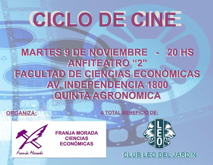ciclo de cine a beneficio