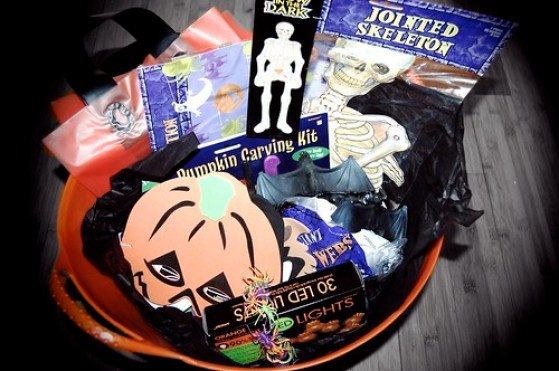 Basket of Halloween goodies!