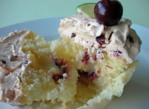 cherry-lime rickey cupcakes