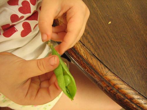 Shelling a pea