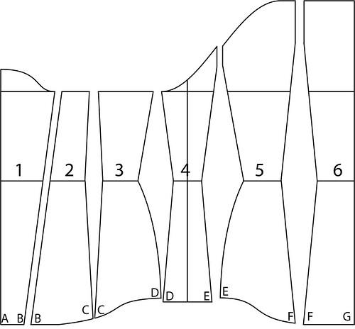 Underbust corset pattern - 36