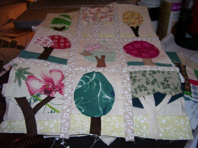 Trees mini quilt