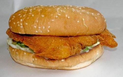 Chicken Schnitzel Burger at Metzis Tasty Takeaway