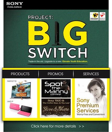 Sony promo: The Big Switch