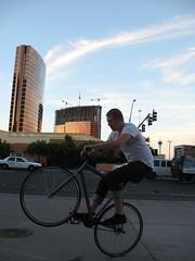 Fixie wheelies in Vegas