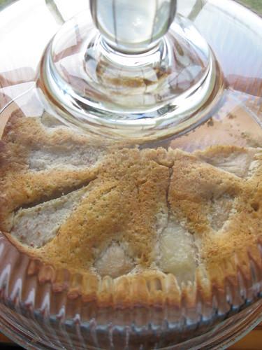 pear almond pudding cake