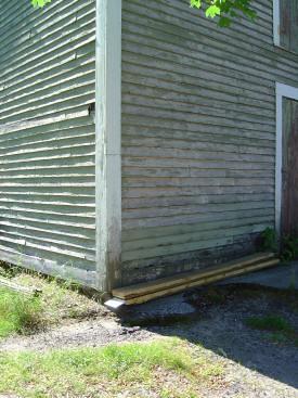 Weathered building, Keene, NH